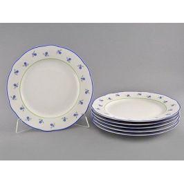 Набор тарелок мелких Мэри-Энн Незабудки, 25 см, 6 шт. 03160115-0887 Leander