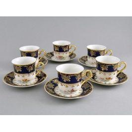 Набор чашек высоких Мэри-Энн (0.15 л), с блюдцами, 6 шт. 03160414-0086 Leander