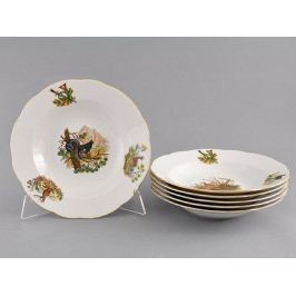 Набор тарелок глубоких Мэри-Энн Лесная сказка, 23 см, 6 шт. 03160213-0363 Leander