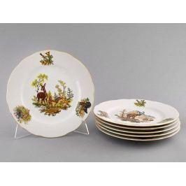 Набор тарелок мелких Мэри-Энн Лесная сказка, 25 см, 6 шт. 03160115-0363 Leander