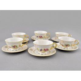 Набор чашек низких Соната Летний луг (0.2 л) с блюдцами, 6 шт. 07160425-0656 Leander