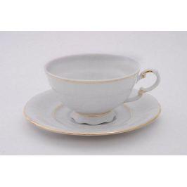 Набор чашек низких Соната Тонкое золото (0.2 л) с блюдцами, 6 шт. 07160425-1139 Leander