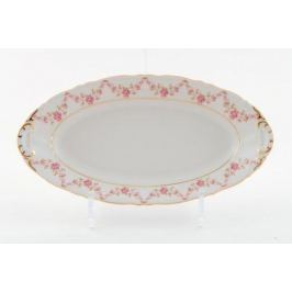 Блюдо овальное Соната Розовая нить, 32 см 07111512-0158 Leander