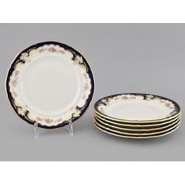 Набор тарелок десертных Соната Розовый узор, 19 см, 6 шт. 07160319-1257 Leander