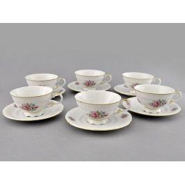Набор чашек низких Соната Весенние цветы (0.2 л) с блюдцами, 6 шт 07160425-0013 Leander
