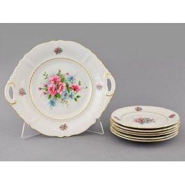 Сервиз для торта Соната Весенние цветы, 7 пр. 07161017-0013 Leander