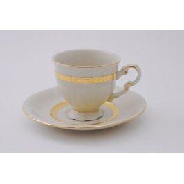 Набор чашек Соната Изящное золото (0.15 л) с блюдцами, 6 шт. 07560414-1239 Leander