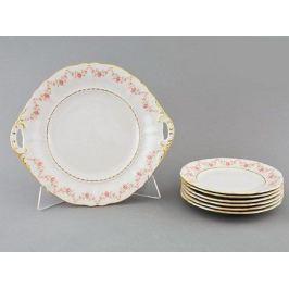 Сервиз для торта Соната Розовая нить, 7 пр. 07161017-0158 Leander