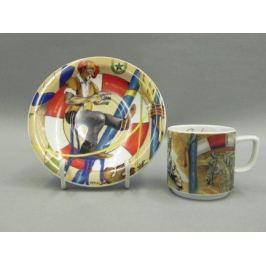 Чашка высокая Сабина Шапито (0.2 л) с блюдцем 02120415-0016 Leander