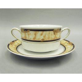 Набор чашек для супа Сабина Золотые листья (0.3 л), 6 шт 02160673-0504 Leander