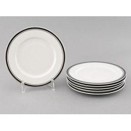 Набор тарелок десертных Сабина Изящная платина, 17 см, 6 шт. 02160327-0011 Leander