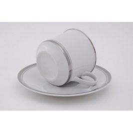 Набор чашек Сабина Изящная платина (0.2 л) с блюдцами, 6 шт. 02160415-0011 Leander
