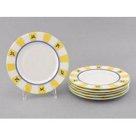 Набор тарелок десертных Сабина Лесные ягоды, 17 см, 6 шт. 02160327-0317 Leander