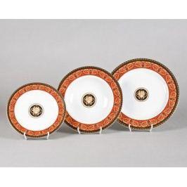 Набор тарелок Сабина Красная лента Версаче, 18 пр. 02160129-B979 Leander