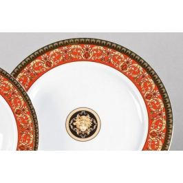 Набор тарелок мелких Сабина Красная лента Версаче, 25 см, 6 шт. 02160125-B979 Leander