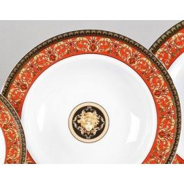 Набор тарелок глубоких Сабина Красная лента Версаче, 23 см, 6 шт. 02160223-B979 Leander