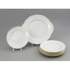 Сервиз для торта Верона с золотом, 7 пр. 67161017-1139 Leander