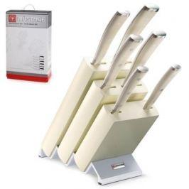 Набор кухонных ножей 6 шт. на дерев.подставке «Ikon Cream White» 9877 WUS Wusthof