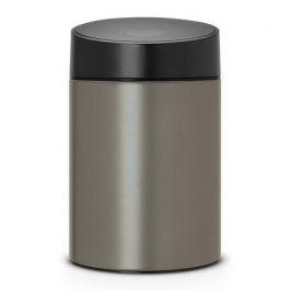 Ведро для мусора с крышкой Slide (5 л) 32.5х20.5х22см, платиновое 483141 Brabantia