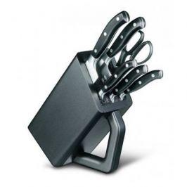 Набор кухонных ножей, 6 пр., черный, в деревянной подставке 7.7243.6 Victorinox