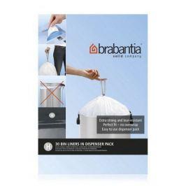 Пакет пластиковый, размер H (40/50 л), белый, 30 шт., в упаковке 375705 Brabantia