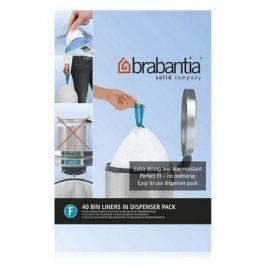 Пакет пластиковый высокий, размер F (20 л), белый, 40 шт. 375644 Brabantia