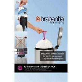 Пакет пластиковый, размер C (10/12 л), белый, 40 шт., с дозатором 361982 Brabantia