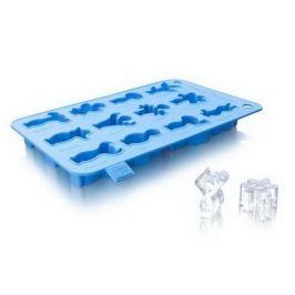 Форма для приготовления льда Веселые человечки, голубая 1885060 VacuVin