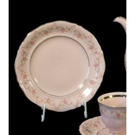 Набор тарелок Соната Розовая нить, 18 пр., розовый фарфор 07260119-0158 Leander