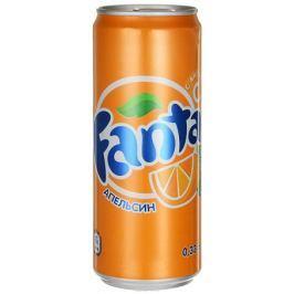Fanta Апельсин напиток сильногазированный, 0,33 л