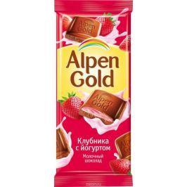 Alpen Gold шоколад молочный с клубнично-йогуртовой начинкой, 90 г