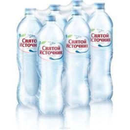 СвятойИсточник вода природная питьевая негазированная, 6 шт по 1 л