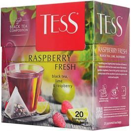 Tess Raspberry Fresh черный чай в пакетиках, 20 шт