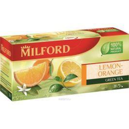 Milford Лимон-Апельсин зеленый чай в пакетиках, 20 шт Чай