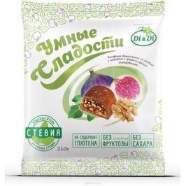 Умные сладости конфеты Инжир с грецким орехом в шоколадной глазури, 210 г