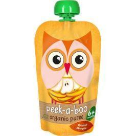 Peek-a-boo пюре органическое груша, манго, с 6 месяцев, 113 г