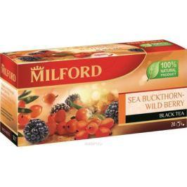 Milford Облепиха-Лесные ягоды черный чай в пакетиках, 20 шт