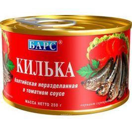 Барс килька балтийская в томатном соусе, 250 г