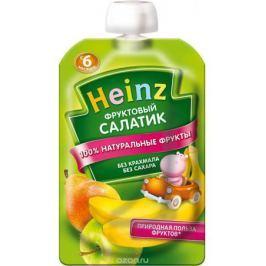 Heinz пюре фруктовый салатик, с 6 месяцев, 100 г (пауч)