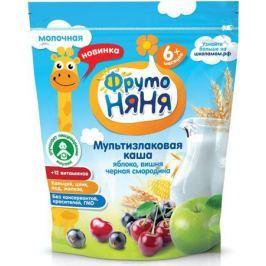 ФрутоНяня каша мультизлак с яблоком, смородиной и вишней молочная с 6 месяцев, 200 г