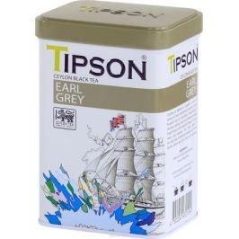 Tipson Эрл Грей чай листовой черный с ароматом бергамота, 85 г Чай