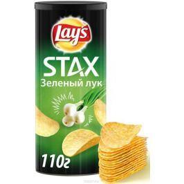 Lay's Stax Зеленый лук картофельные чипсы, 110 г