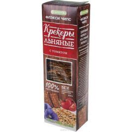 Флэксичипс Крекеры льняные натуральные со вкусом томата, 100 г