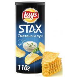 Lay's Stax Сметана и лук картофельные чипсы, 110 г