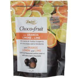 Zaini Choco&Fruit апельсин, лимон и лайм в горьком шоколаде, 125 г