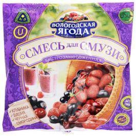 Кружево Вкуса Смесь для смузи из вишни клубники черной смородины быстрозамороженная, 300 г