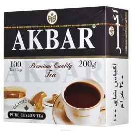 Akbar Классическая серия черный чай в пакетиках, 100 шт