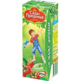 Сады Придонья сок яблоко-шиповник с 6 месяцев, 0,2 л