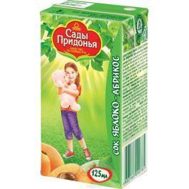 Сады Придонья сок яблоко-абрикос с мякотью с 5 месяцев, 0,125 л
