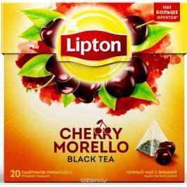 Lipton Cherry Morello черный чай в пирамидках, 20 шт